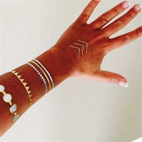 permanent metallic tattoos 25 best ideas about metallic temporary on
