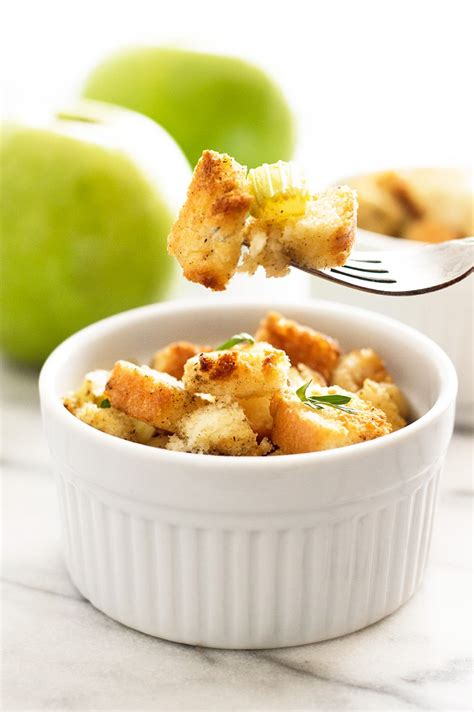easy apple stuffing for two baking mischief