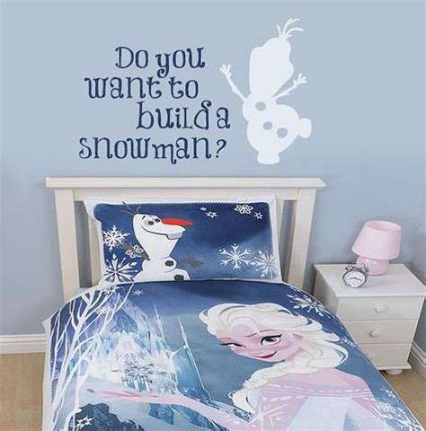 Frozen Bedroom Decor by Frozen Wall Decal Build A Snowman By Wildgreenrose Etsy