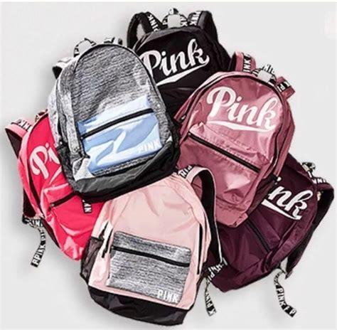 victorias secret pink logo marled large cus backpack bookbag carry on choose ebay