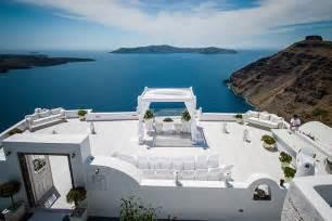 Wedding Venue Table Decorations Dana Villas Exclusive Weddings In Santorini