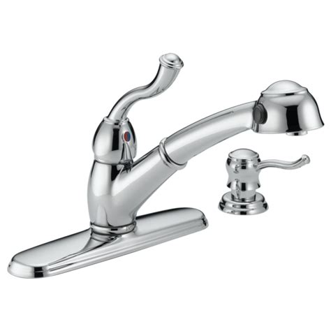 Delta Saxony Kitchen Faucet Replacement Parts by Single Handle Pull Out Kitchen Faucet With Soap Dispenser