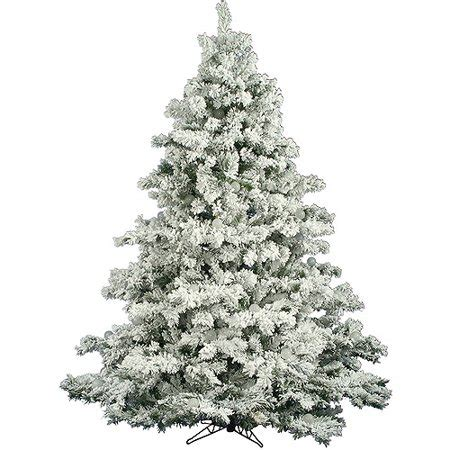 heavy flocked christmas tree clearance unlit 6 5 x 62 quot alaskan pine artificial tree flocked white on green walmart