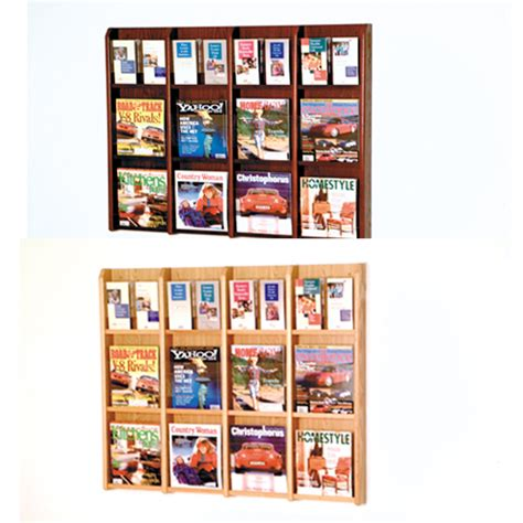 Magazine Display Rack Wall by Magazine Wall Display Rack With Dividers Discount Shelving