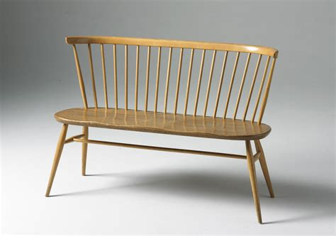 love seat bench love seat bench with backrest reissue 1955 beech elm