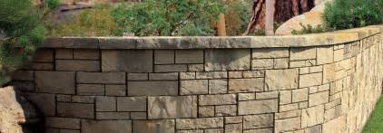 Pre Built Outdoor Fireplaces - tandem wall a natural stone retaining wall from belgard