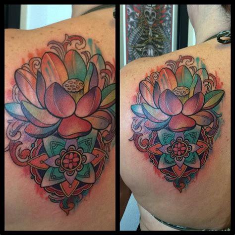 jade tattoo abstract lotus by jade tattoos