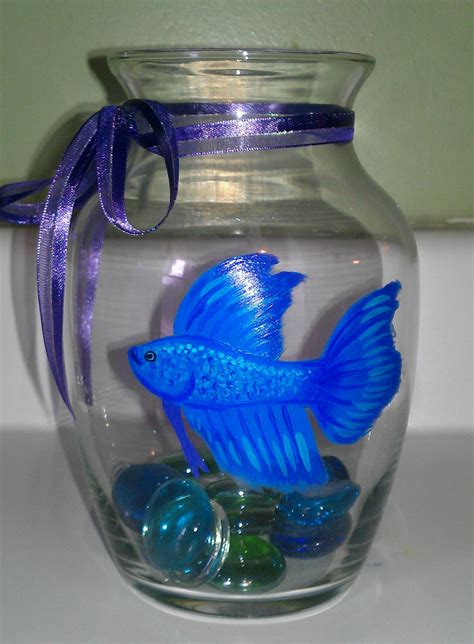 Fish Bowl Vases by Painted Betta Fish Bowl Vase You Choose By