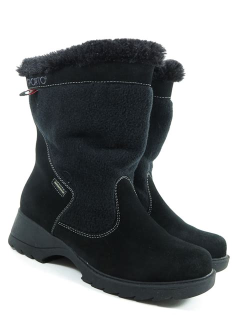 sporto waterproof boots sporto 9 m womens boots black leather insulated waterproof