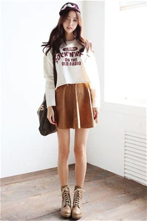 desain mini dress remaja gaya fashion wanita korea style casual