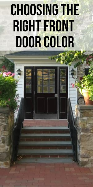 choosing front door colors blissfully domestic