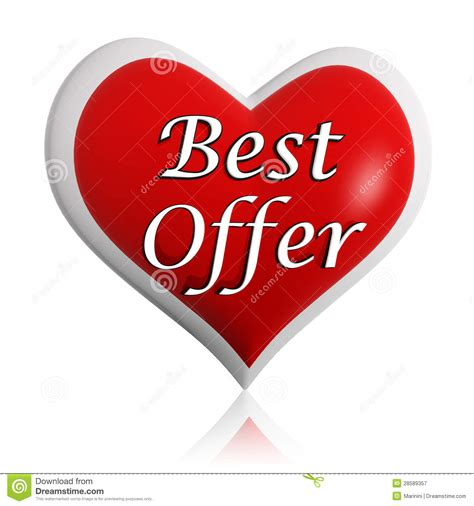 Valentines Offer At Collection by Valentines Best Offer Banner Stock Illustration