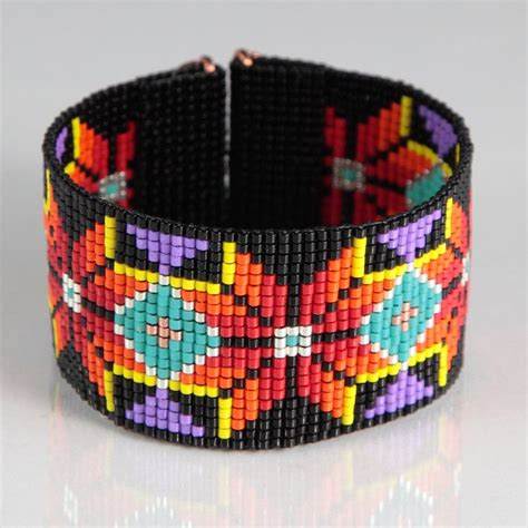 indian beaded bracelets patterns 540 best american beading images on