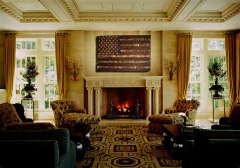american flag weathered wood edison bulb  wooden