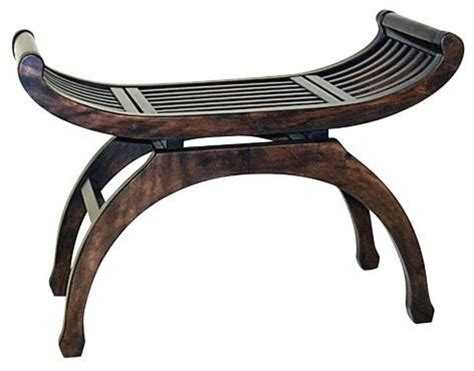 asian benches java curved basswood bench asian indoor benches by