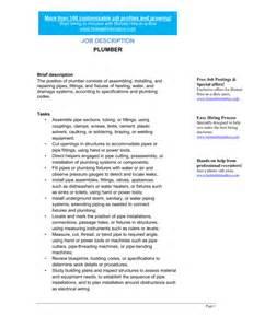 plumber description template sle form biztree