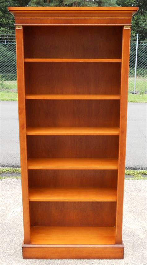 yew wood standing open bookcase shelves by bradley sold