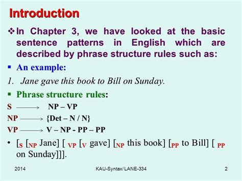 sentence pattern in english with exles syntax lane 334 chapter 4 processes king abdulaziz