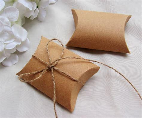 Box Pillow Mini 1 free shipping 100pcs lot kraft paper pillow box with jute tie gift boxes wedding