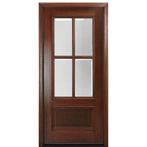 Mai Doors Dd4l 1 True Divided Lite 6 8 Quot Tall 4 Lite 4 Panel Exterior Door