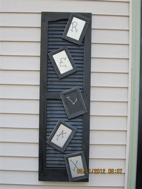 spray painting shutters shutter picture frames spray paint glue and a