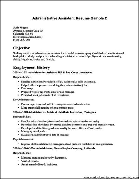 administrative assistant objective resume examples examples of resumes
