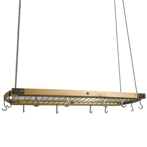 hanging pot rack in cabinet wood and chrome hanging pot rack in hanging pot racks