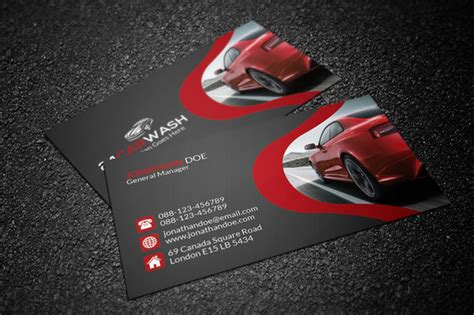 free car business card templates template car wash business card 187 logotire