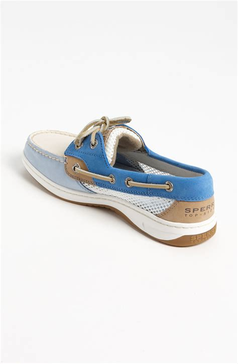 blue sperry boat shoes sperry top sider bluefish 2eye boat shoe women lyst