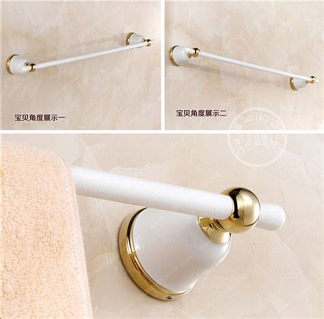White Towel Bars For Bathrooms by Becola White Bath Towel Bar Bathroom Towel Rod Single Rod