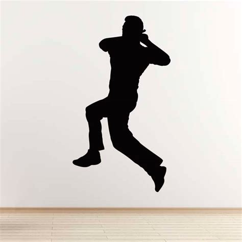 Wall Stickers Make Your Own cricket wall sticker spin bowler cricketer wall sticker