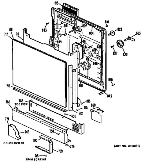 hotpoint dishwasher parts diagram hotpoint dishwasher parts model hda2030m01 sears