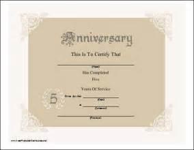 service anniversary certificate templates a pretty lacy anniversary certificate honoring 5 years of
