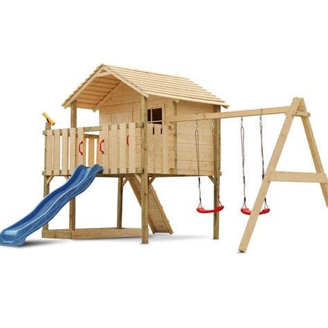 sheds and swings children play tower stilt tree house wood slide swing
