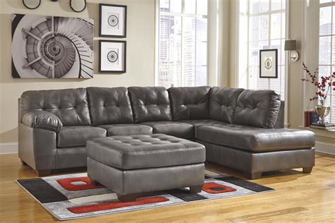 ashley furniture leather sectional with chaise faux leather sectional w right chaise tufting by