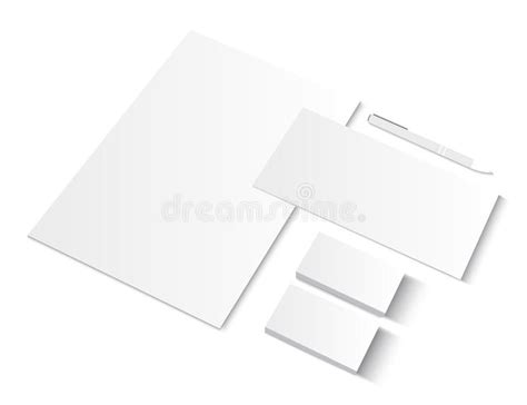 Ci Template by Set Of Ci Blank Templates With Business Cards Stock Vector