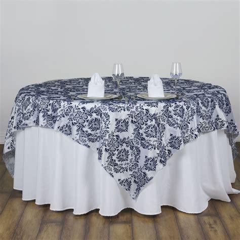 6 Pcs Flocking Table Overlays 60x60 Quot Wedding Party Table Overlays For Wedding