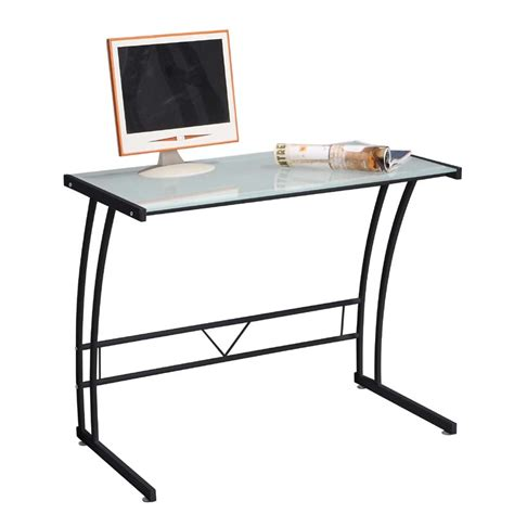 Black Glass Computer Desks Lumisource Sigma Glass Computer Desk Black Ofd Tm Bitsgl B