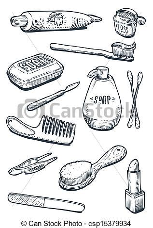 Free Bathroom Design Tool vectors of set of vintage hygiene tools csp15379934