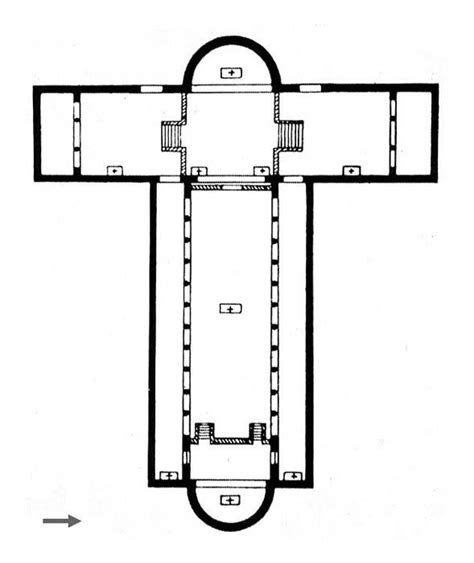 latin cross floor plan romanesque architecture 313 with soo at university of