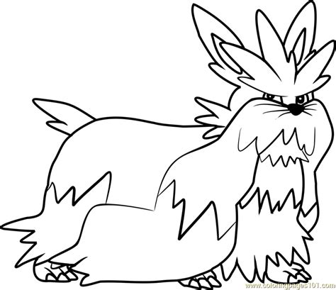 herdier pokemon coloring pages stoutland pokemon coloring page free pok 233 mon coloring