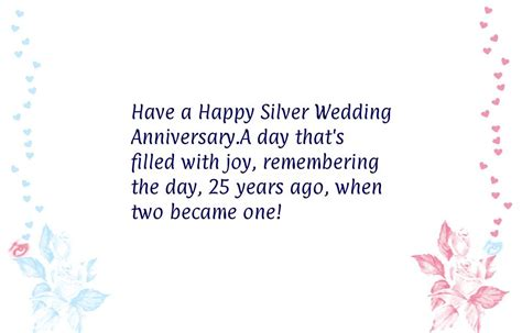 25th Wedding Anniversary Wishes For by 25th Wedding Anniversary Wishes Www Imgkid The