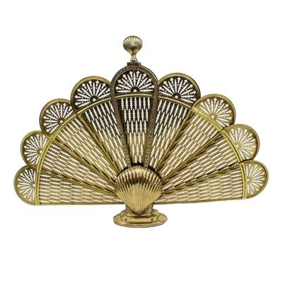 fan shaped fireplace screen antiques jewelry home furnishings more 17cin025 ebth