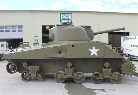 Now you can buy a M4A4 Sherman Tank, for just 85,000 €, it ... Ww2 Sherman Tanks For Sale
