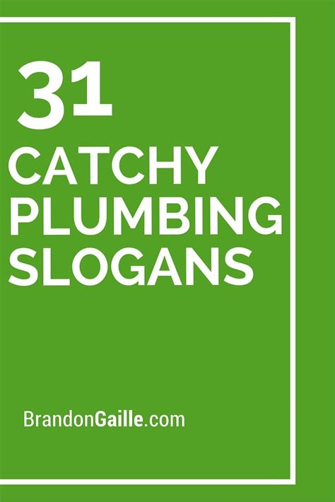 Plumbing Company Slogans 33 catchy plumbing slogans and taglines plumbing