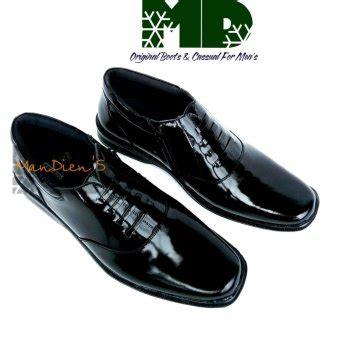Sepatu Pdh Di Lazada jual dien sepatu kulit lak pdh 02 hitam di