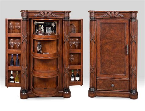 Wood Bar Cabinet Mocha Java Finished Wood Bar Cabinet Bay All Things Wooden Pinterest Bar