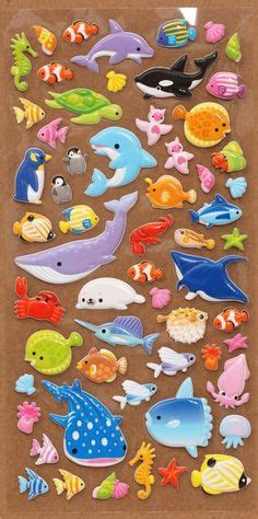 Sticker Stiker Anak Timbul Binatang Animals 2 3d stickers sea animals q lia japan japanese stationery animals products
