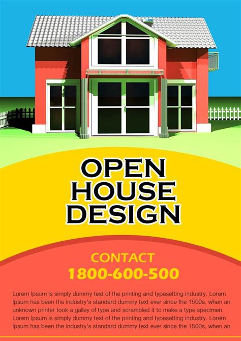 34 Spectacular Open House Flyers Psd Word Templates Demplates Open House Flyer Template Free