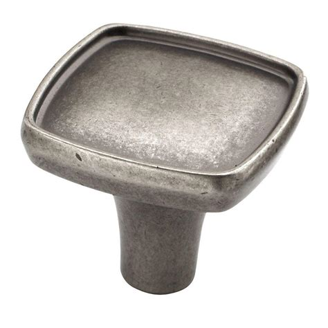 amerock square cabinet knobs amerock porter 1 1 8 in weathered nickel square cabinet